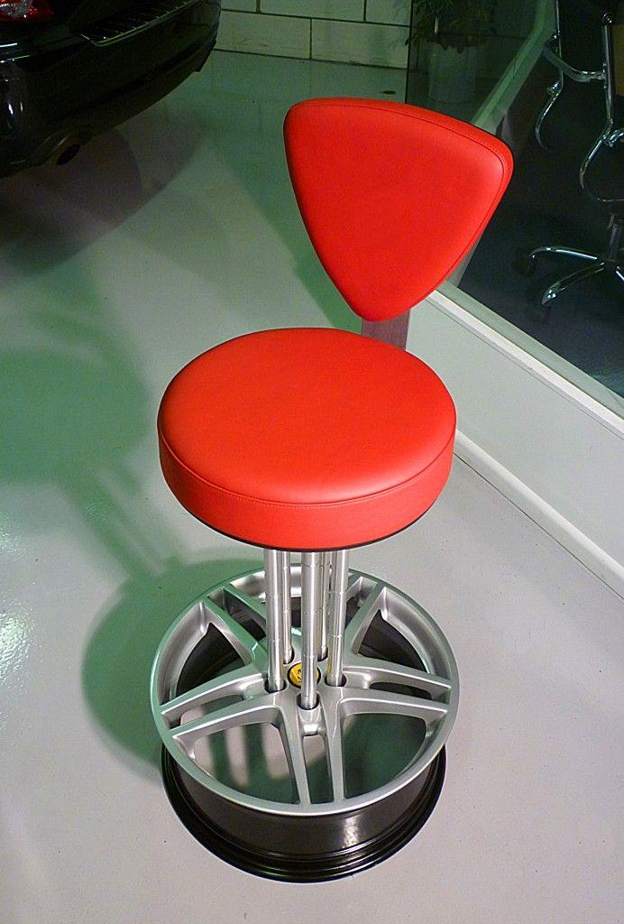 Ferrari wheel chair   Automotive FurnitureBar StoolsGarage  Ferrari wheel chair   Automotive Themed Furniture   Pinterest  . Garage Chairs Stools. Home Design Ideas