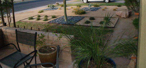 Front yard xeriscape ideas las vegas landscape designers for Garden design las vegas