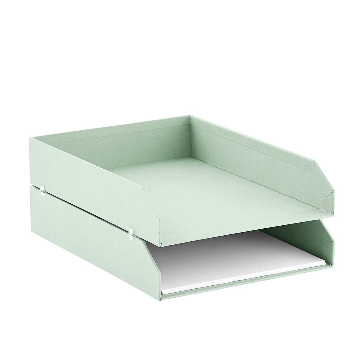 So Mint Stockholm Stackable Letter Trays Set Of 2 Trayoffice Storagecontainer