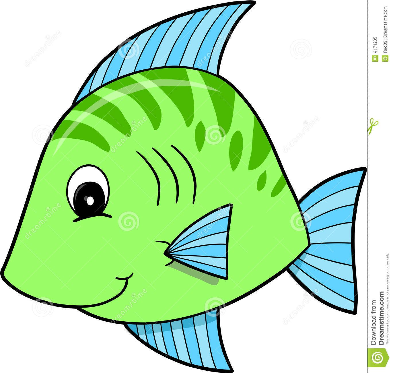 Cute Green Fish Vector | Elementary-Math | Pinterest | Free clipart ...