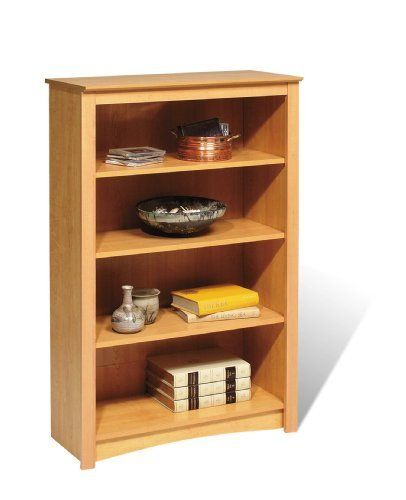 Sonoma 48 Bookcase 4 Shelf Maple By Prepac 101 17 Proudly Manufactured In North America Constructed From Carb Shelves 4 Shelf Bookcase Prepac Furniture