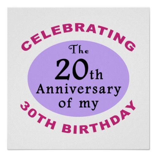 Celebrating the 20th Anniversary of my 30th birthday