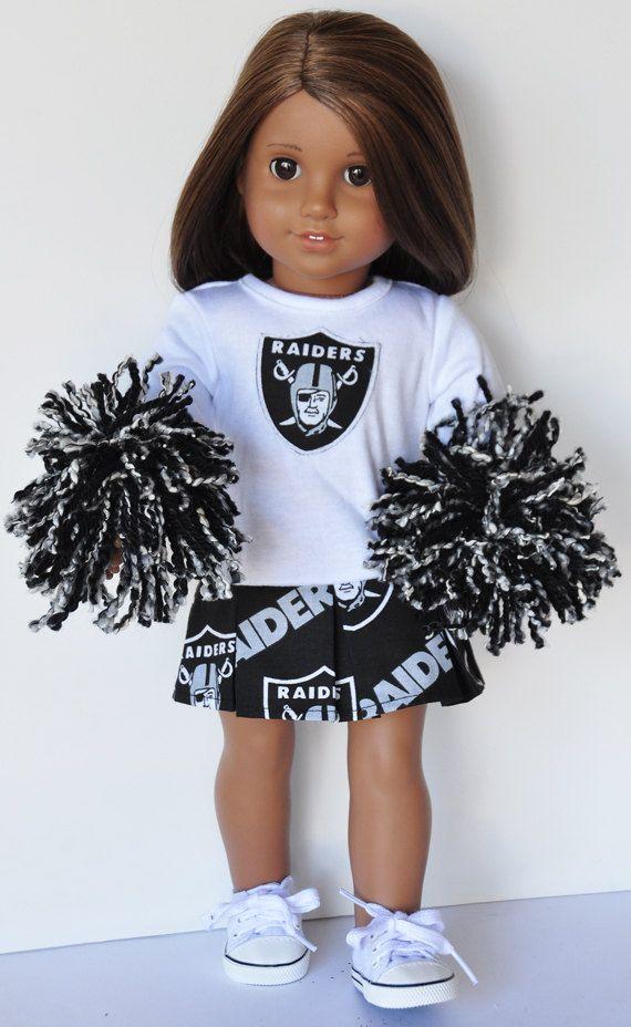 18 inch Doll Clothes  Oakland Raiders by LoriLizGirlsandDolls #18inchcheerleaderclothes
