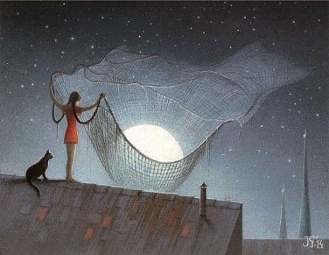 Il·lustracions de Jerzy Głuszek: pinzellades de ...