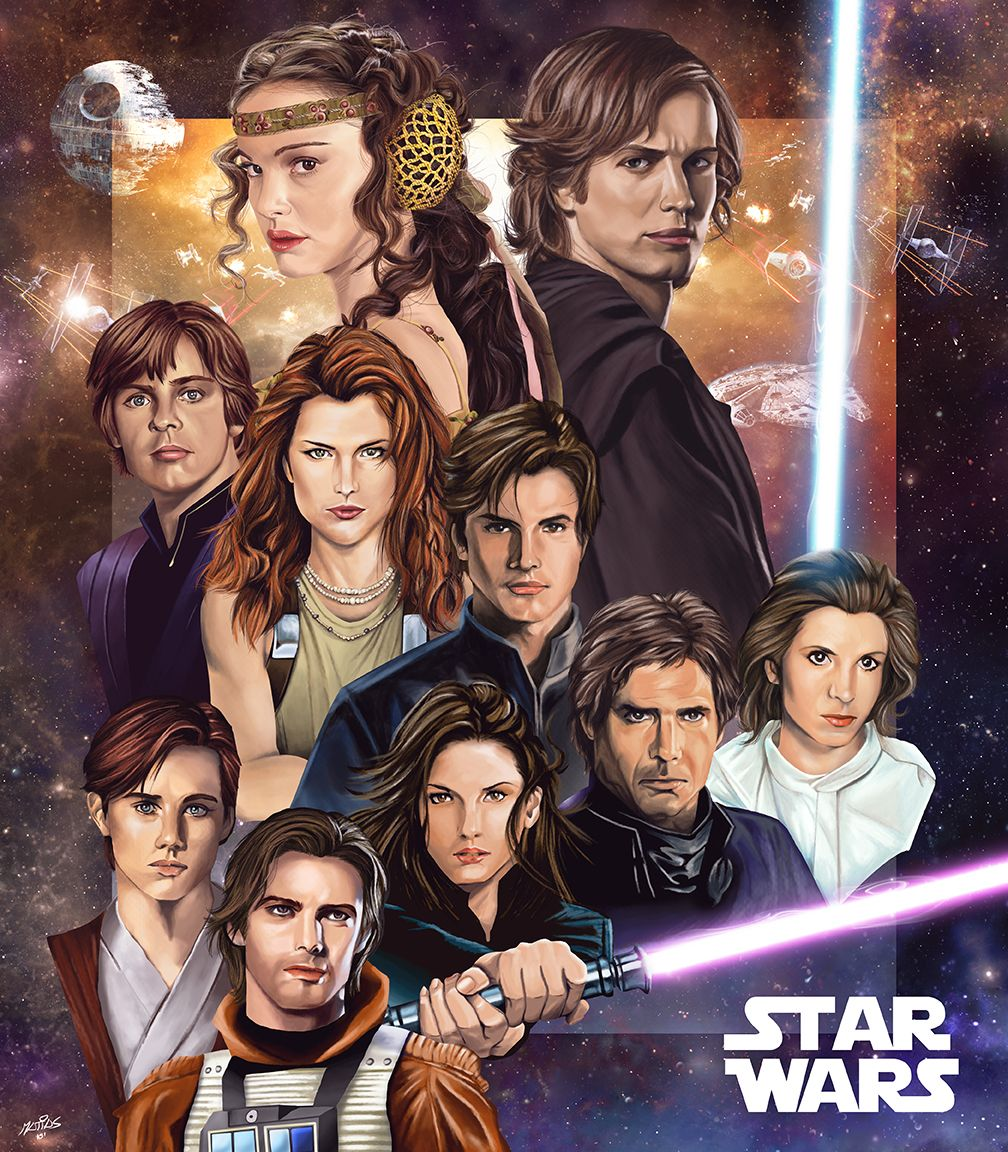 Star Wars Expanded Universe Posterspy Star Wars Family Tree Star Wars Poster Star Wars