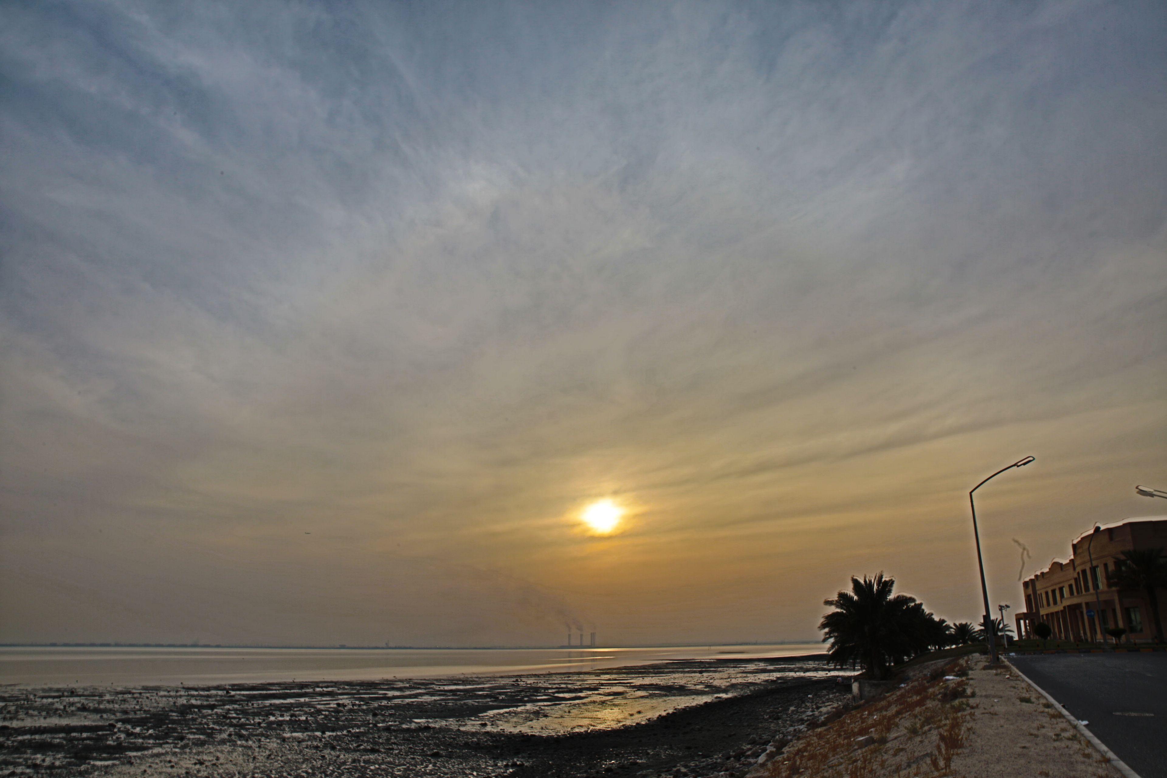 دولة الكويت غروب الشمس Kuwait Sun Set Sunset Outdoor Celestial