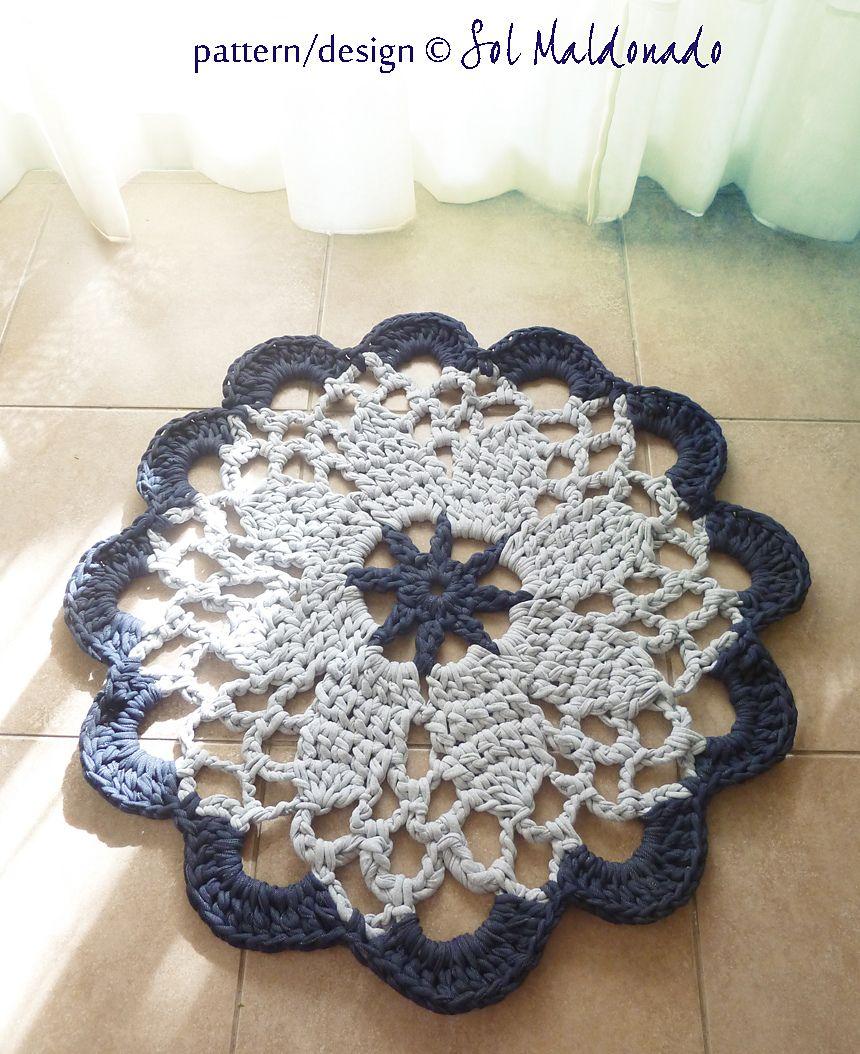 Rug Doily T yarn Mandala Crochet Pattern pattern by Sol Maldonado