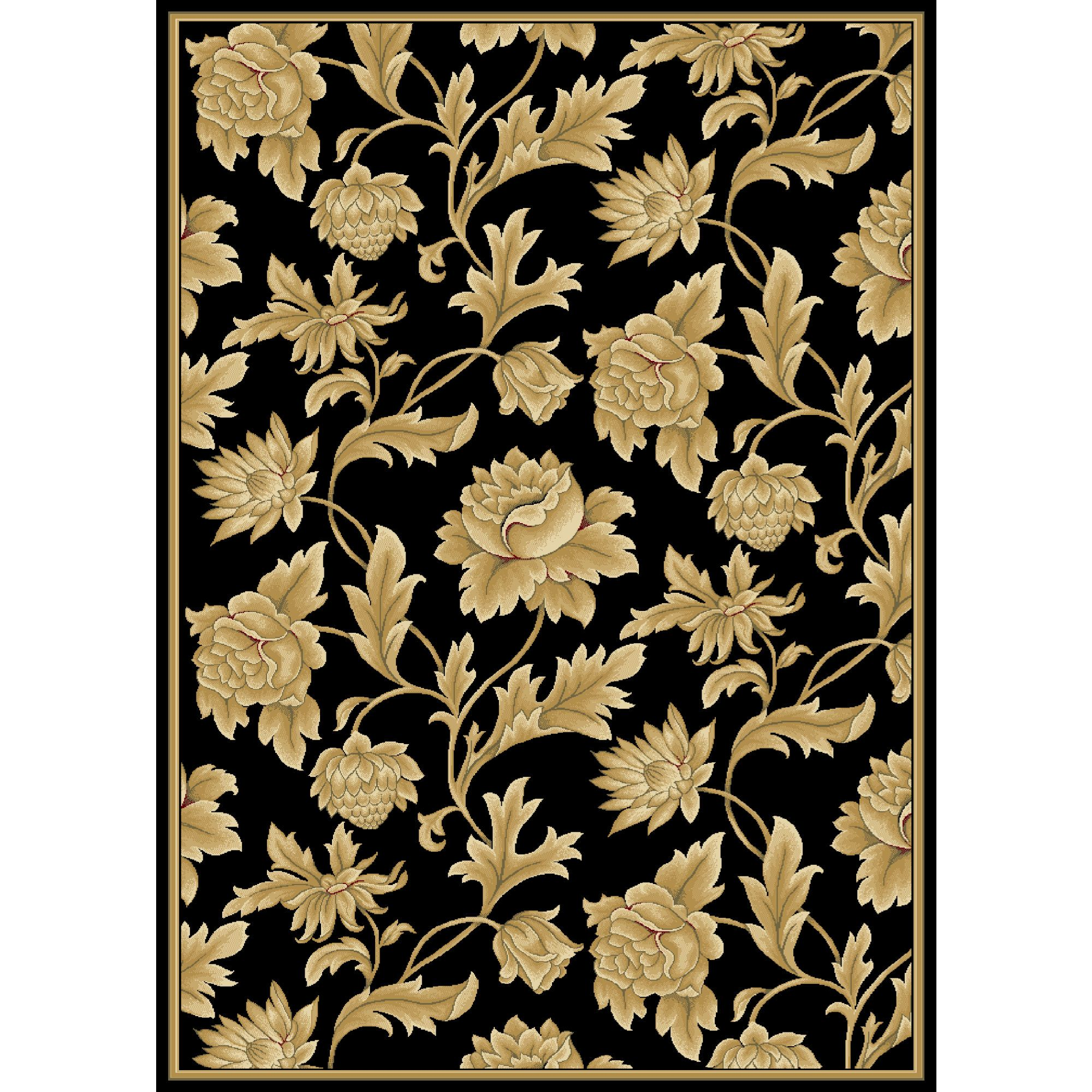 Black Gold Area Rug With Images Gold Rug Rugs Oriental Rug