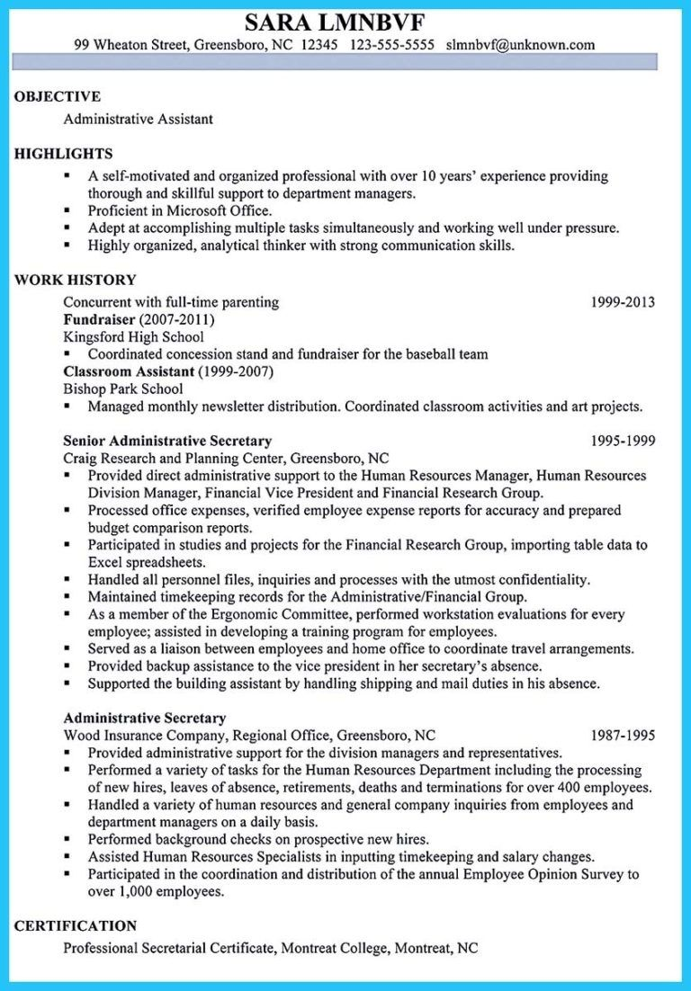 Best Administrative Assistant Resume Sample to Get Job Soon %Image ...