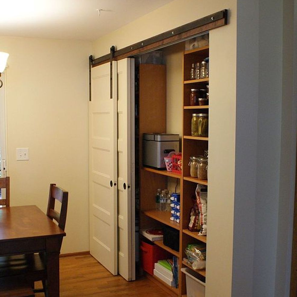 New Pantry Build With Sliding Barn Style Doors Budgetupgrade Barn