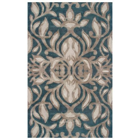 I pinned this Antionette Rug in Teal from the Rug Market event at Joss and Main!