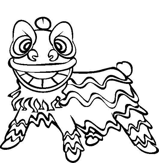 Chinese New Year Lion Dance Coloring Pages