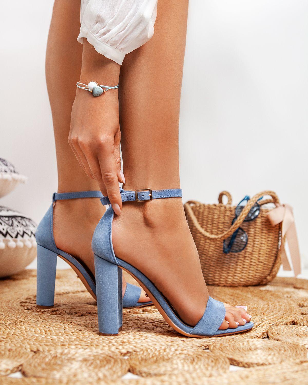 Niebieskie Sandaly Na Slupku No Lie New W Sklepie Deezee Pl Heels Girls Shoes Blue Heels