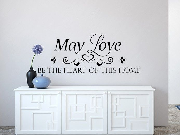 May Love Wall Decal Top Quality Great Value Easy To Apply - How to apply wall decals