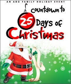 Abc Family S 25 Days Of Christmas Countdown 25 Days Of