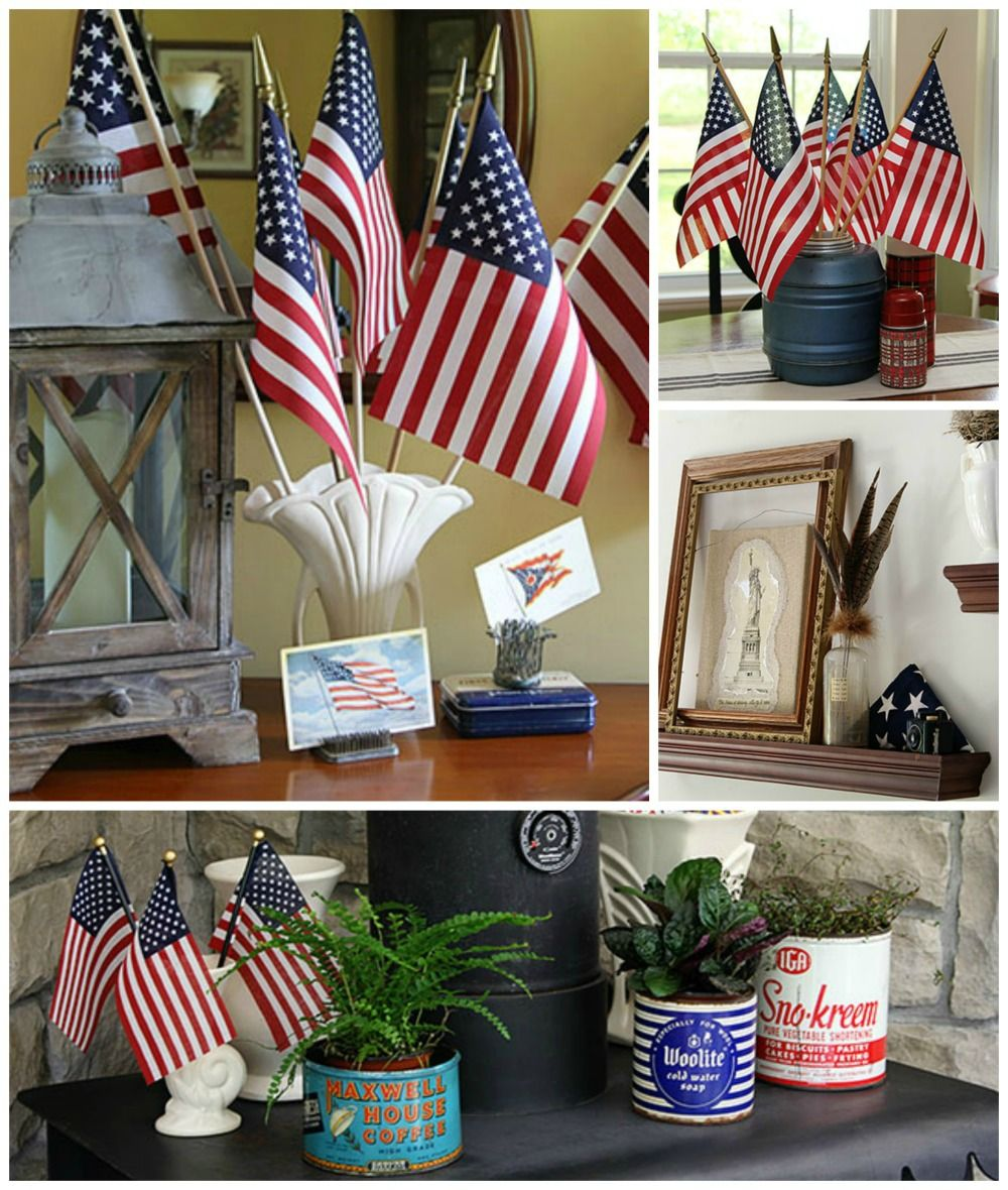 An Eclectic Patriotic House Tour House Of Hawthornes 4th Of July Decorations July Crafts Patriotic Decorations