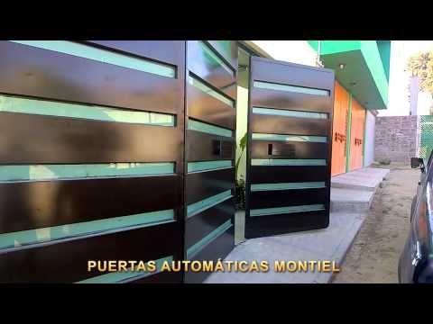 Puerta autom tica plegadiza de 4 hojas con pistones - Automatizacion de puertas ...