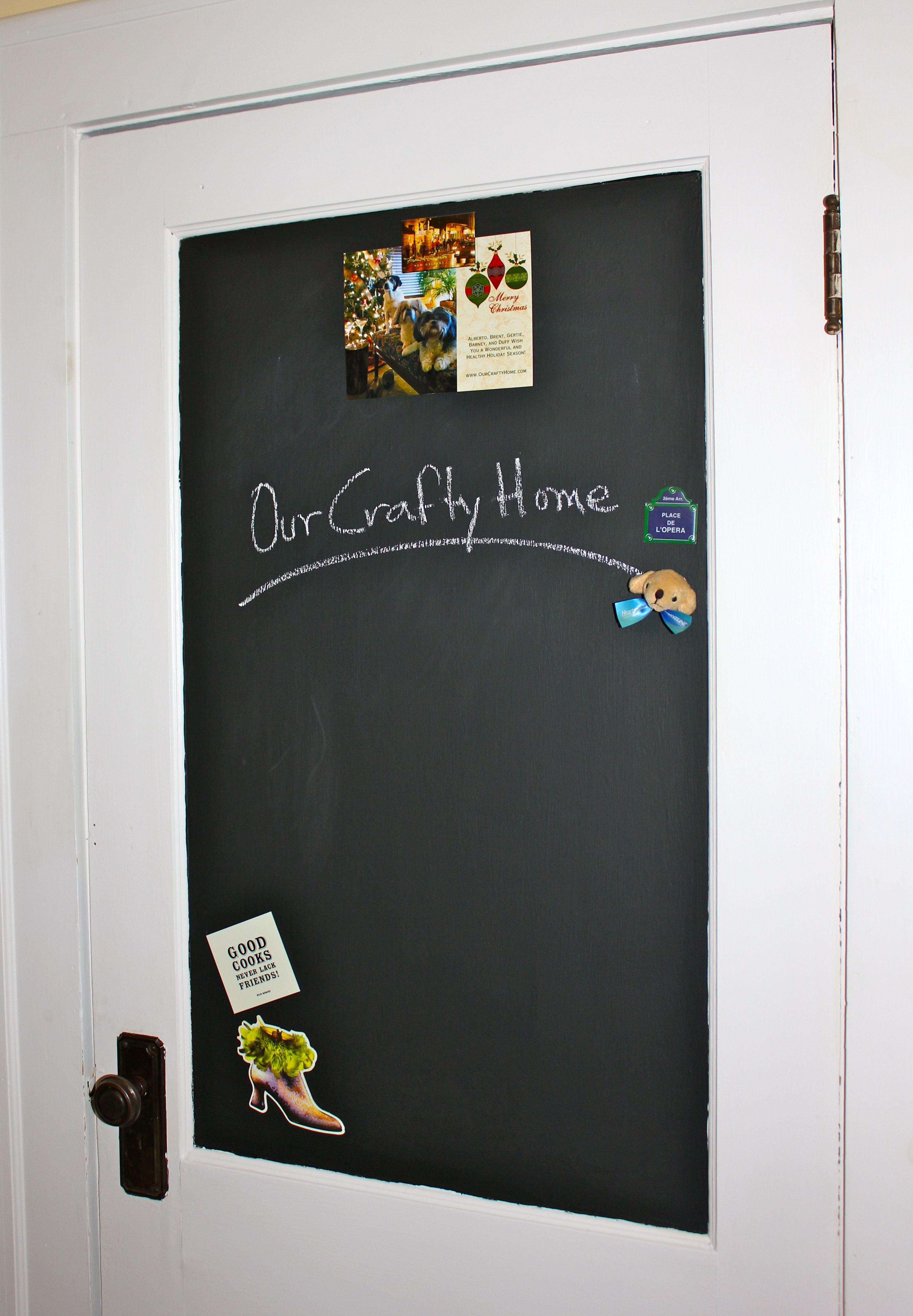 Magnetic Chalkboard Door & Fun Idea! Magnetic Chalkboard Door   Easy Crafts   Pinterest ...