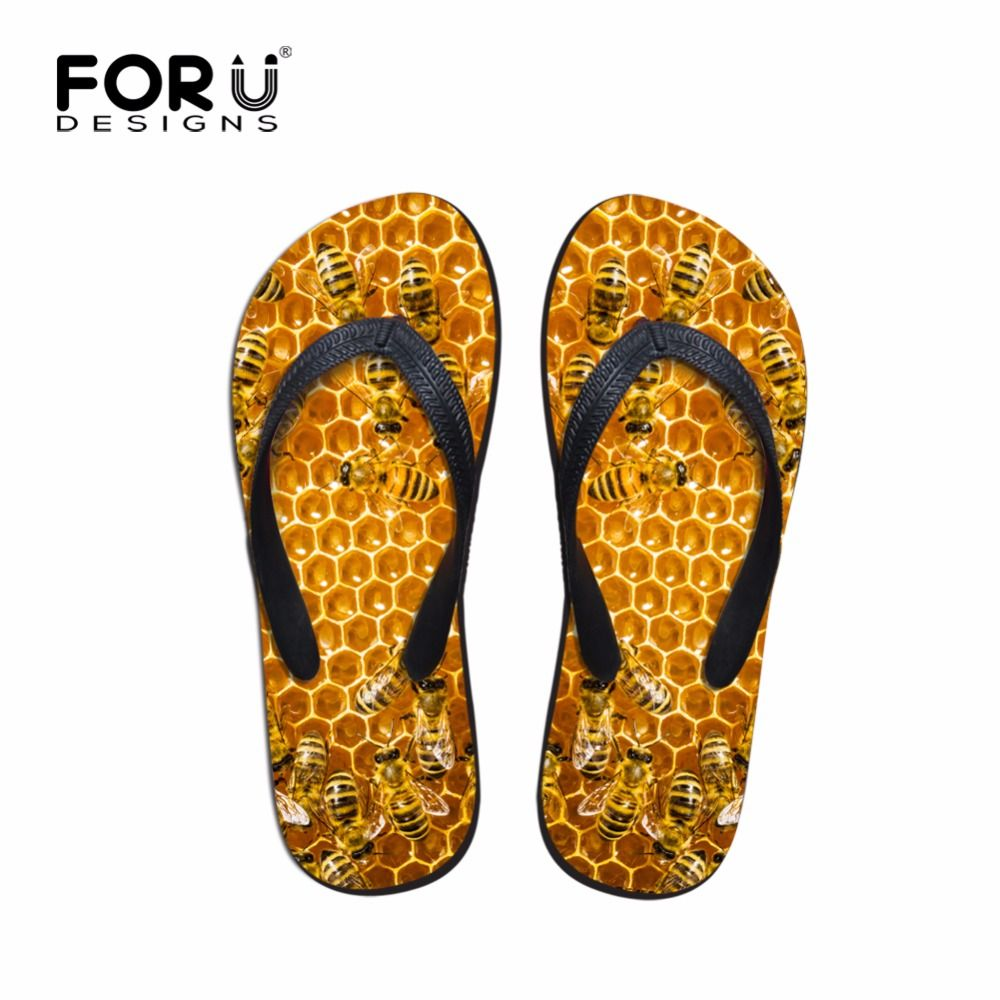 ed866973cc97 Click to Buy    Mens Summer Casual Sandals Animal Slippers Bee 3D Printed  Rubber Flip Flops for Teenagers Wear-resistant Beach Shoes Male Flats   Affiliate