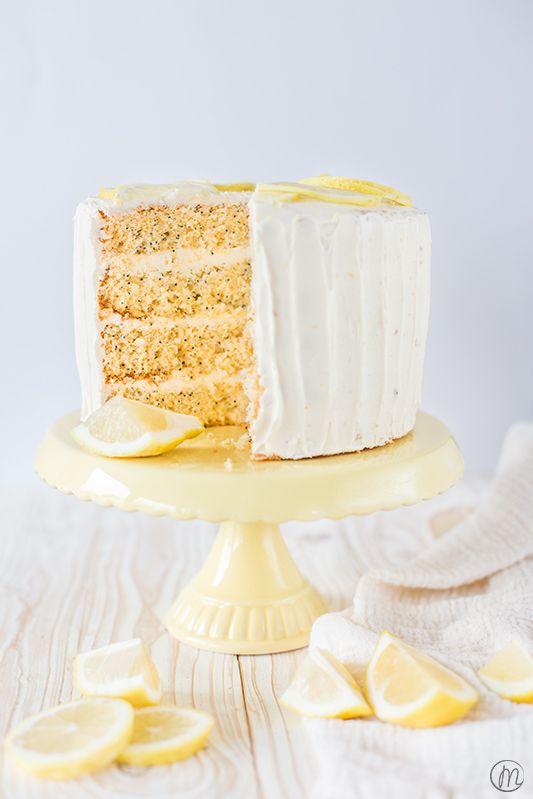 Lemon Curd Torte Zum 3 Bloggeburtstag Marylicious Zitronenkuchen Rezept Tee Rezepte Zitronenmohnkuchen