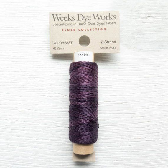 Embroidery Floss | Weeks Dye Works Hand Over-Dyed 2-Strand