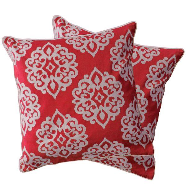 Lush Decor Sophie Zipper Throw Pillow Shell Set Of 2 Turquoise Blue Size 18 X Cotton Damask