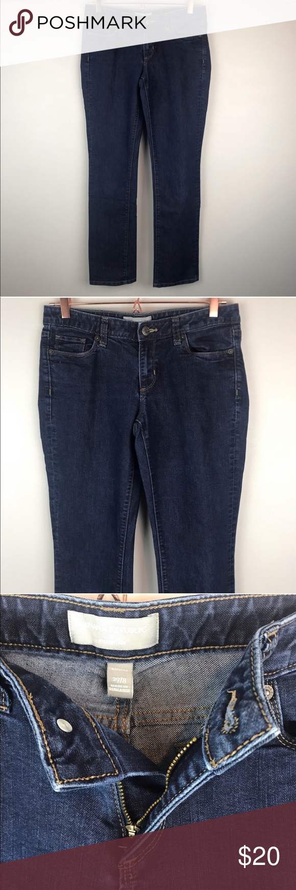 Banana Republic Relaxed Fit Blue Jeans (With images