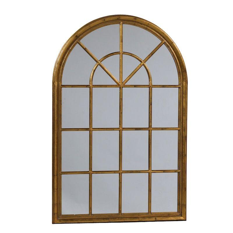Antique Gold Arch Window Mirror Next To My Window Seat