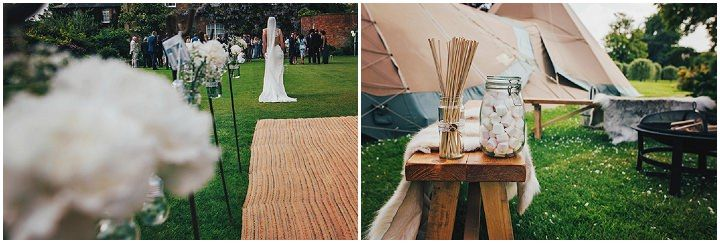 Lisa and Harry's Relaxed Tipi Wedding by Three Flowers Photography