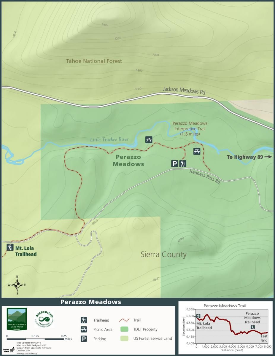 Perazzo Meadows Map By Tdlt Us Forest Service Truckee River Forest Service