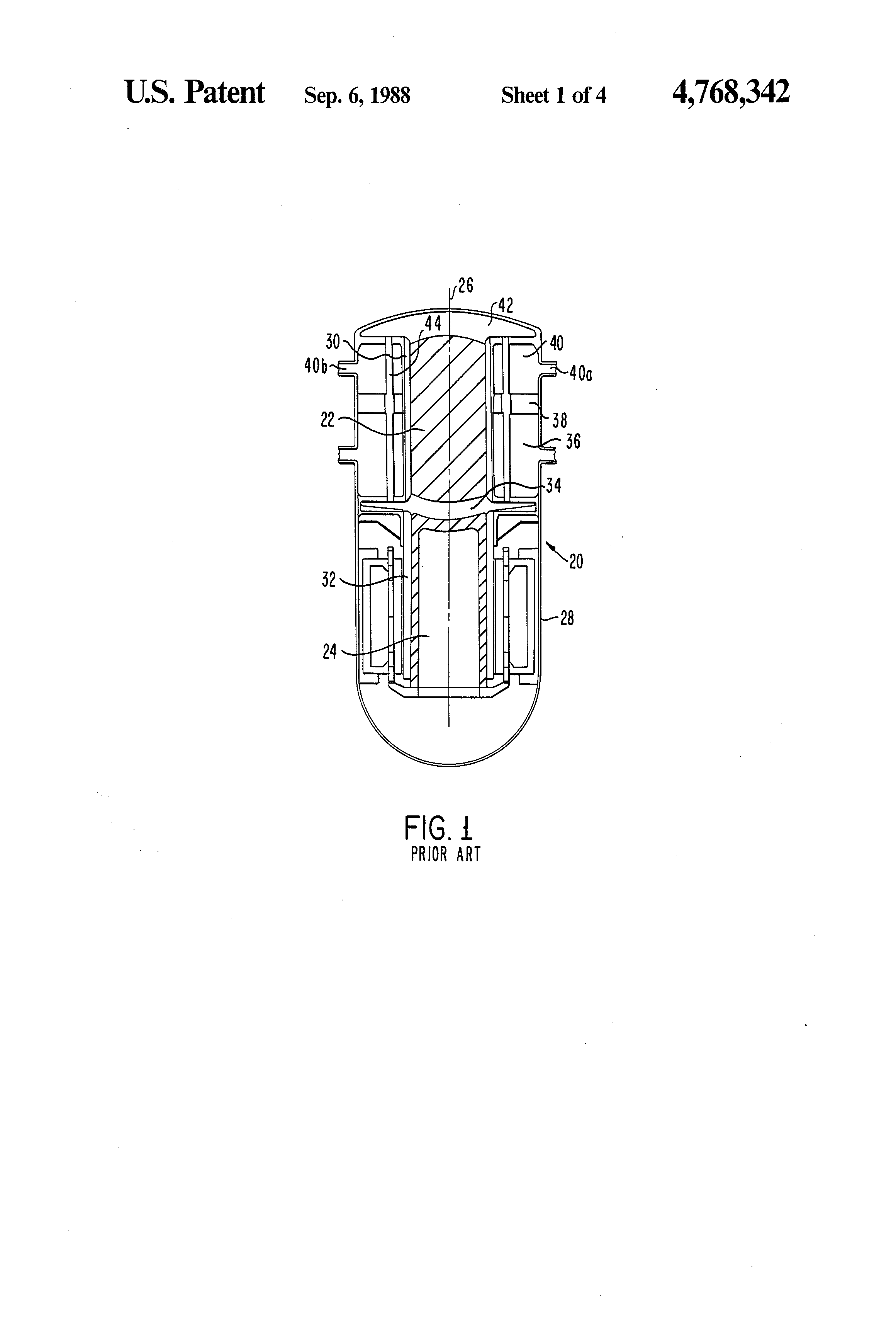 Heater Head For A Stirling Engine Us 4768342 Patent Drawing Diagram