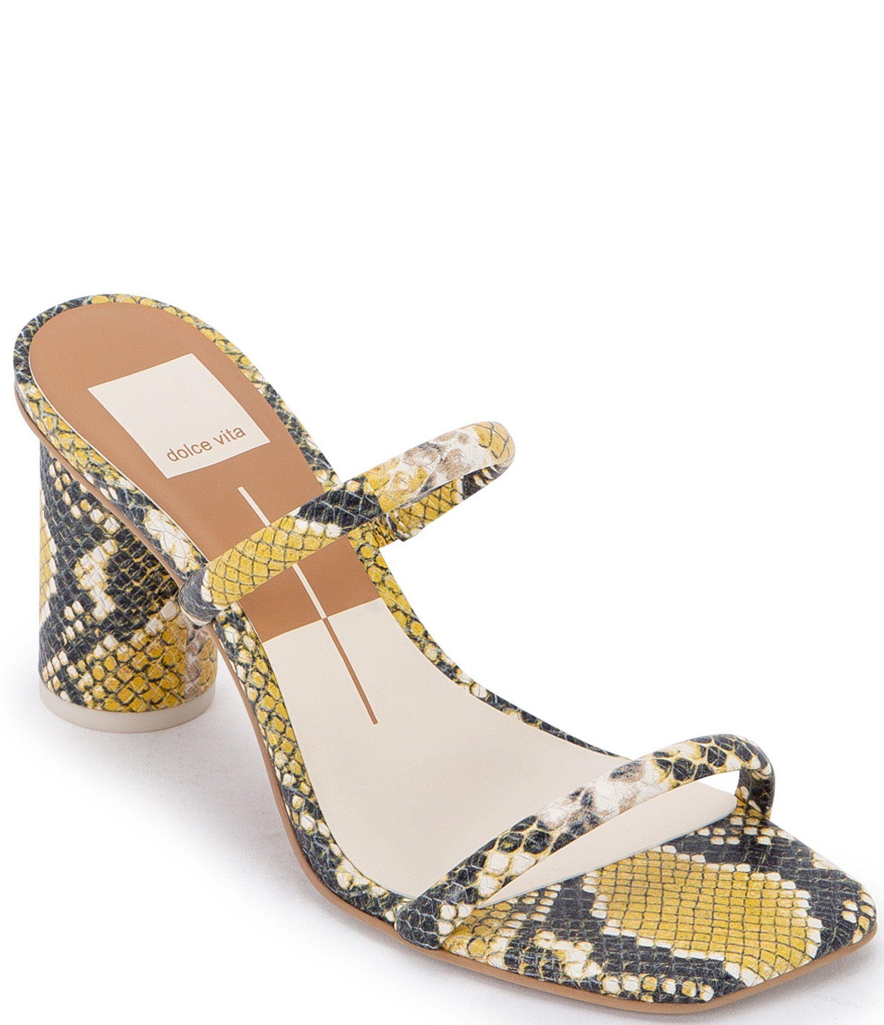 Dolce Vita Noles Square Toe Snake Print Leather Sandals –  9.5M