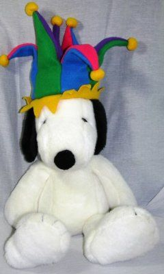 Snoopy Millennium Plush with Fleece Jester Hat Macy's Limited Edition 1999
