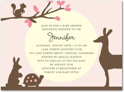 baby shower invitations forest animals girl Google Search Baby