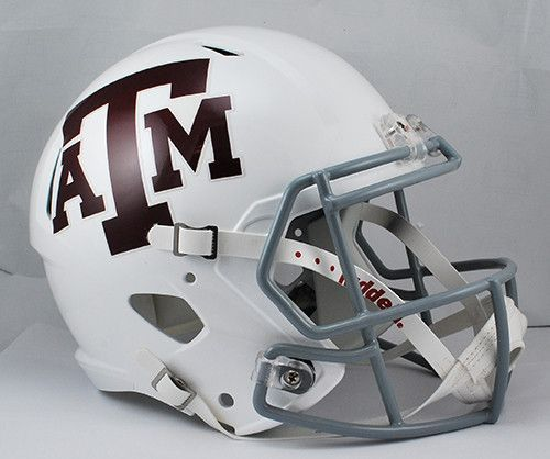 Texas A M Aggies Riddell Deluxe Replica Speed Helmet White Football Helmets Helmet Mini Football Helmet