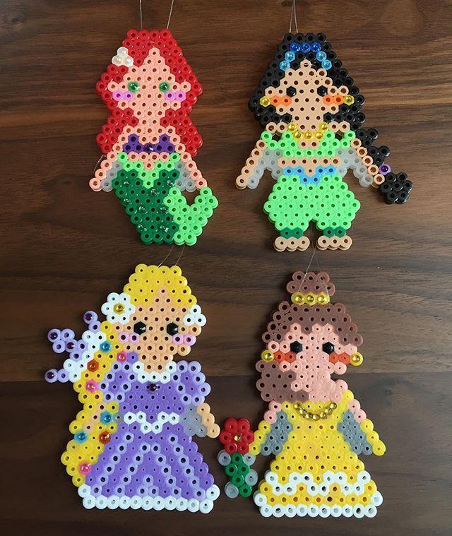 Princess Beads: Ariel, Jasmine, Rapunzel Adn Belle