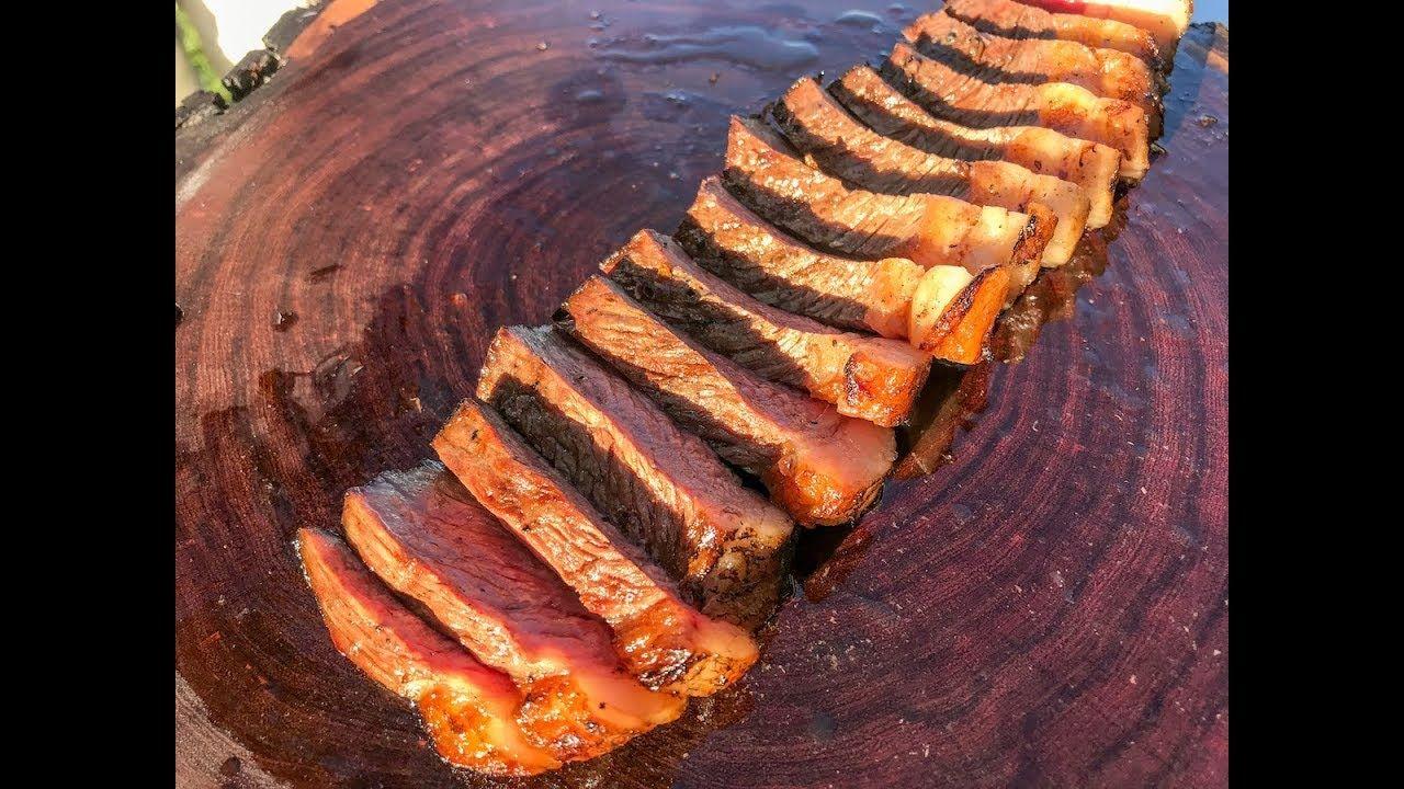 Grilled picanha with farofa brazilian recipe brazilian
