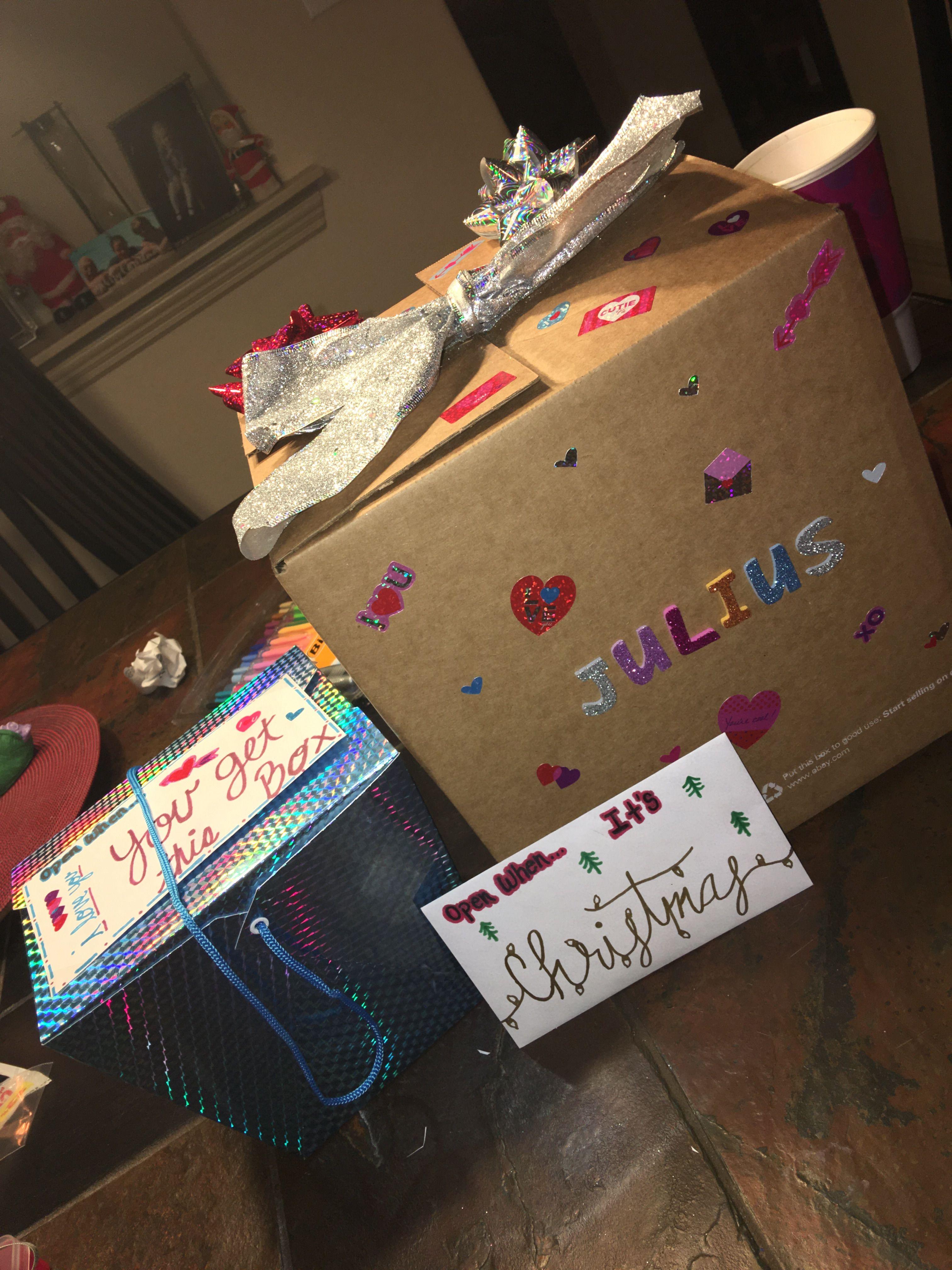 Open when letters boyfriend present valentinesday
