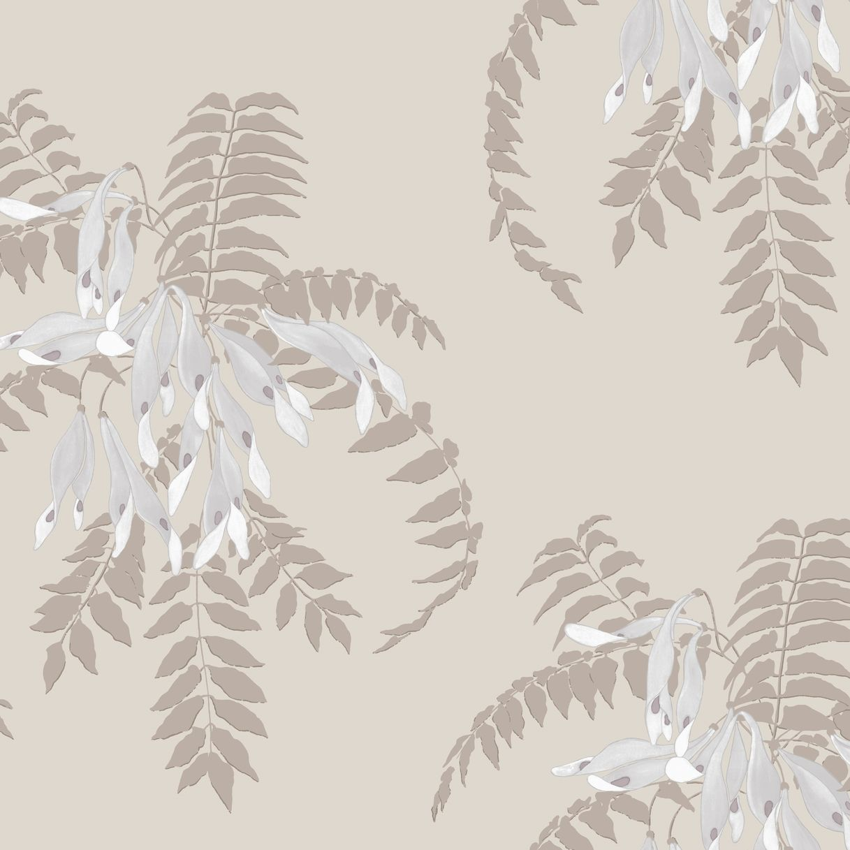 Photo of Pratomagno Semi Lilac Seed & Coffee Wallpaper  – Organic Traditional Wallpapers – Dering Hall