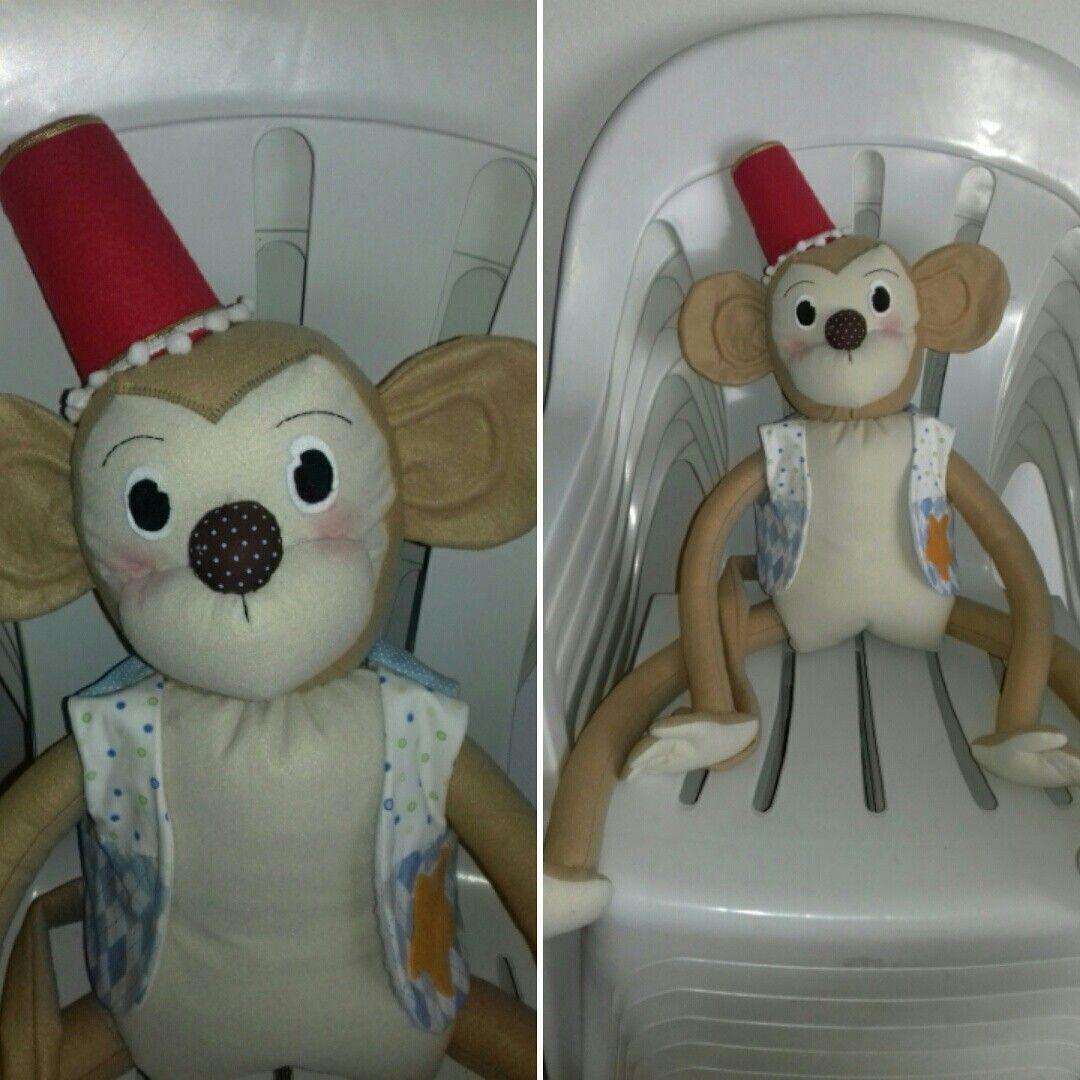 Macaco para decoração festa tema Circo.