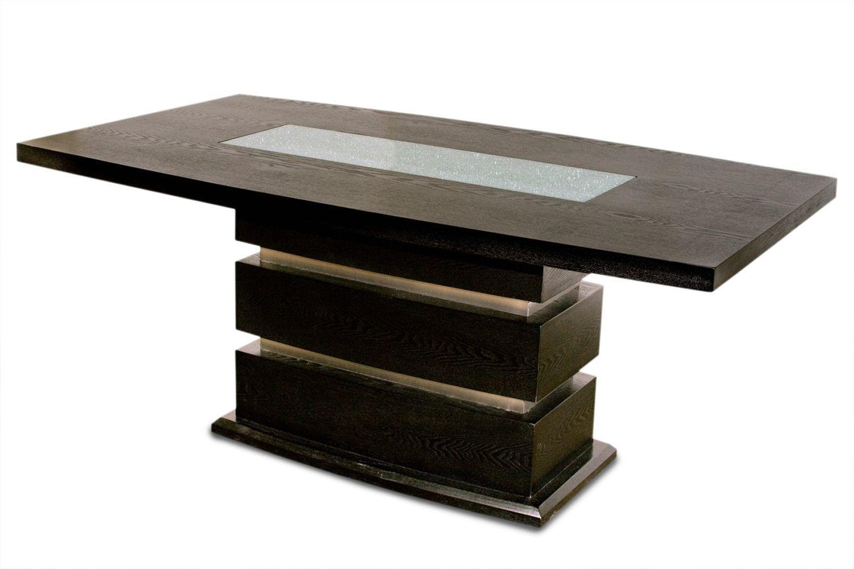 Modern Design Small Pedestal Dining Table Smart For Rectangular