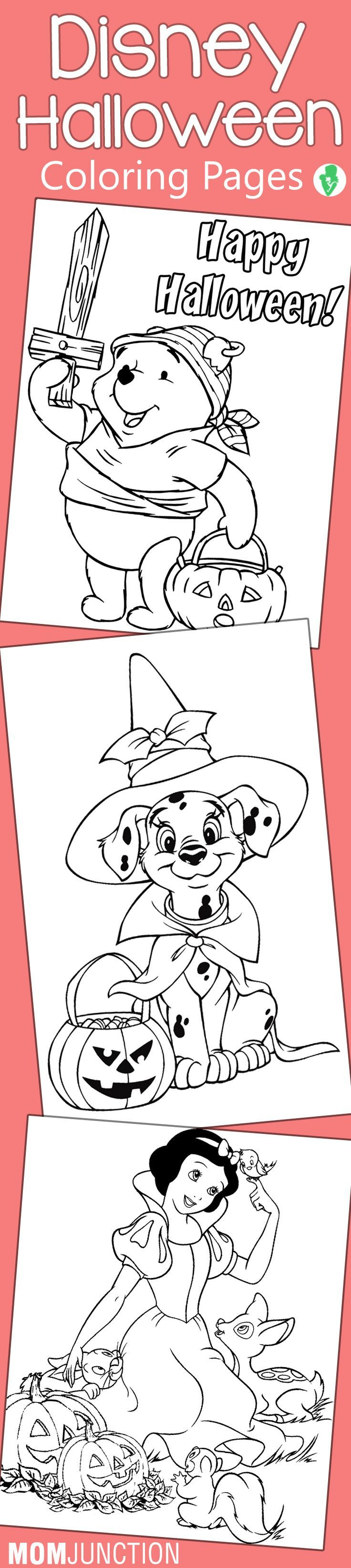 25 Amazing Disney Halloween Coloring Pages For Your Little Ones ...
