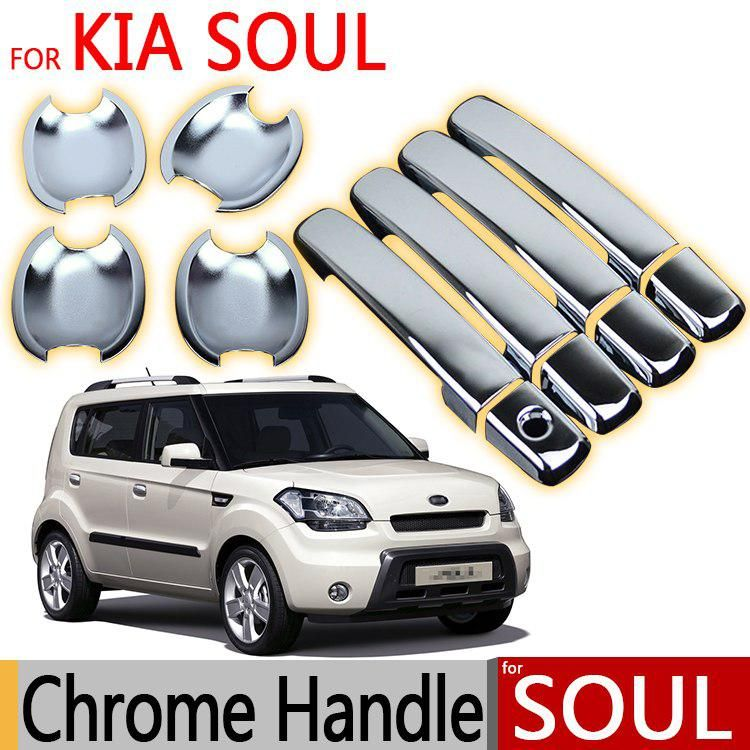 For Kia Soul Am 2011 2012 2013 Chrome Door Handle Covers Trim