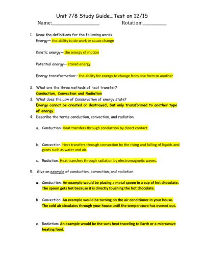 worksheet. Methods Of Heat Transfer | Kinetic energy, Heat ...