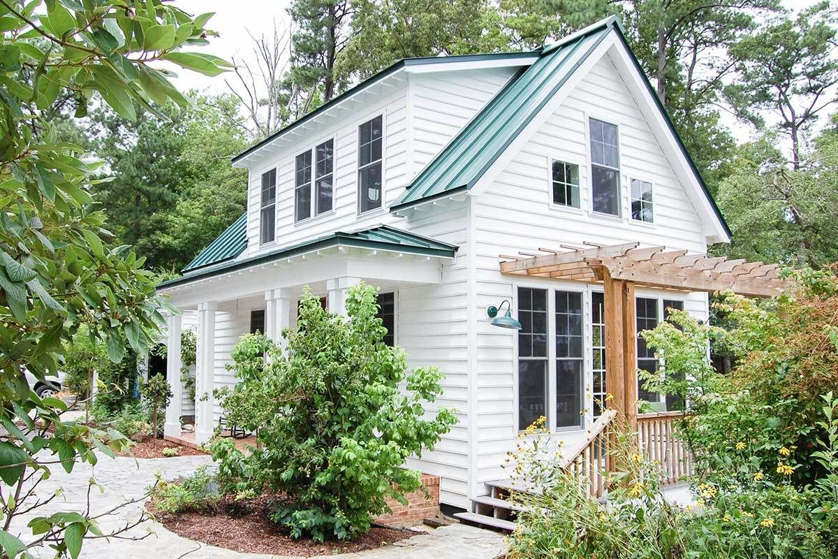 Plan 31570GF: Adorable 3-Bedroom Cottage House Plan with Front and Side Porches