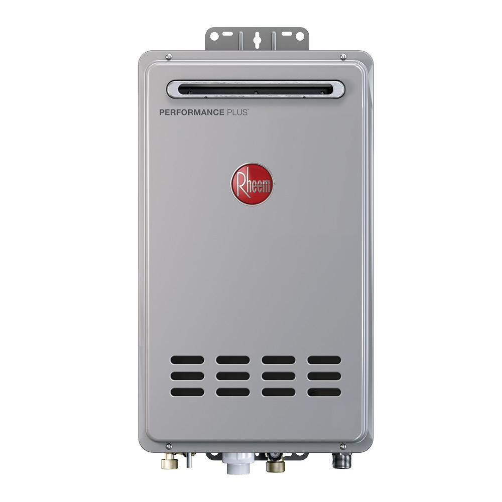 Rheem Performance Plus 8 4 Gpm Natural Gas Outdoor Tankless Water Heater Eco180xln3 1 Tankless Water Heater Water Heater Gas Water Heater