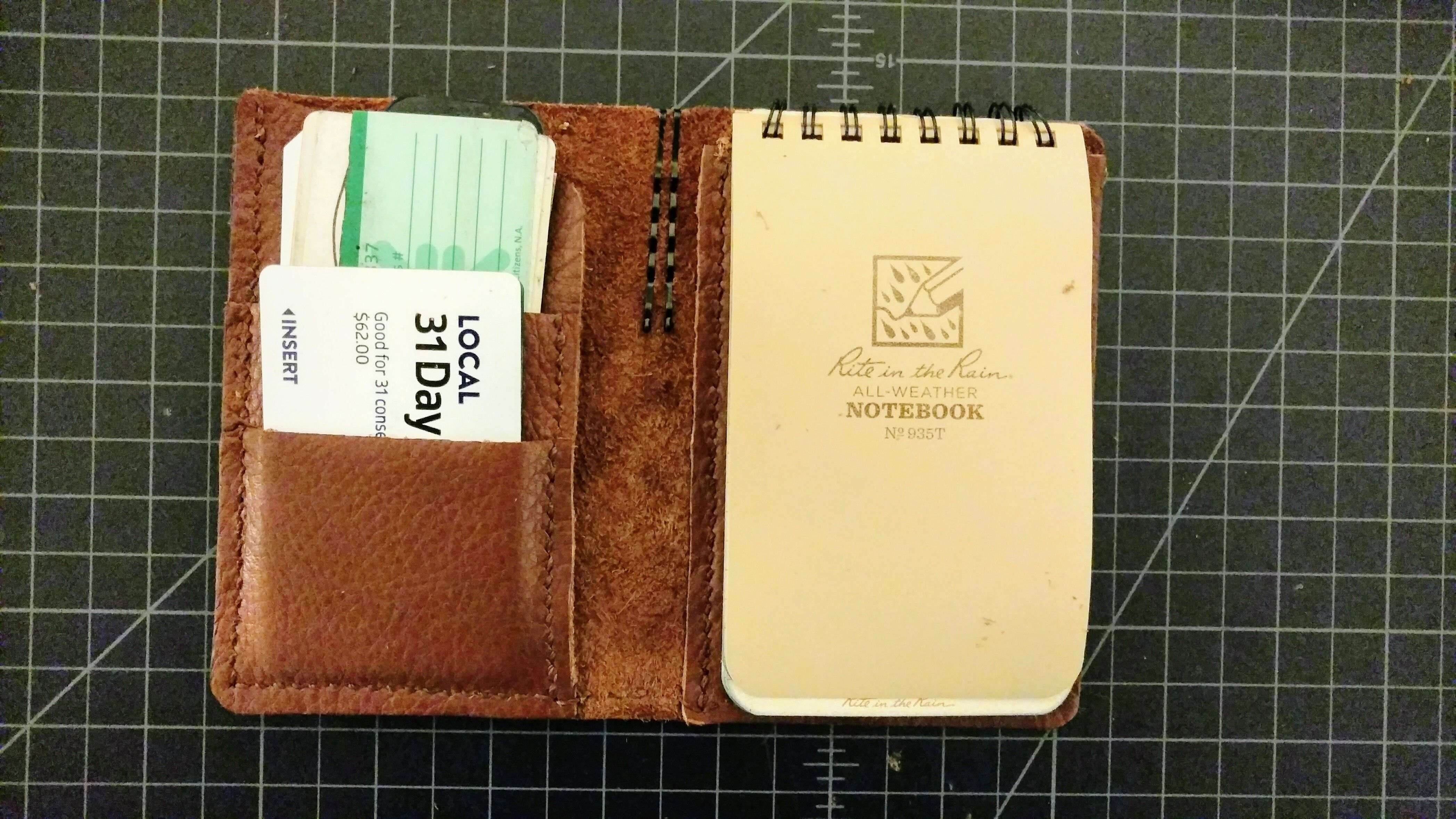 Diy Leather Wallet Notebook Case For A Rite In The Rain All