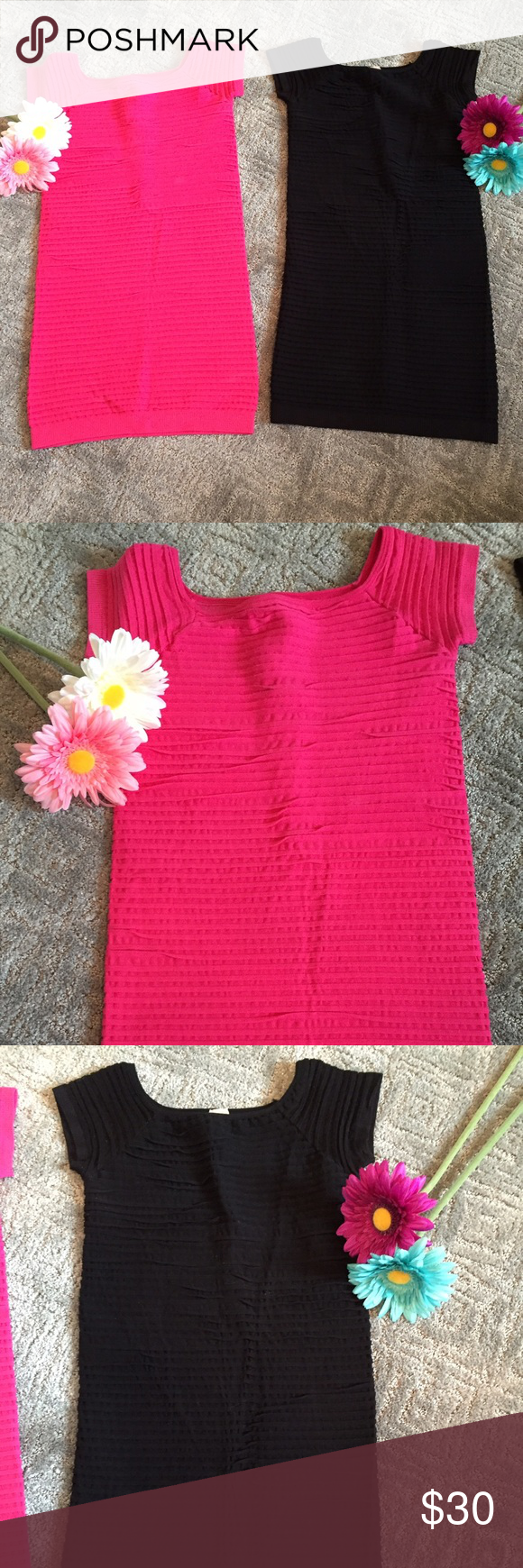 Pink dress in store  Bundle of two bodycon dresses   Hot pink dresses Petite