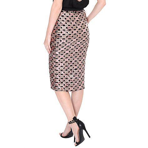 Buy True Decadence Sequin Skirt, Rose Gold Online at johnlewis.com