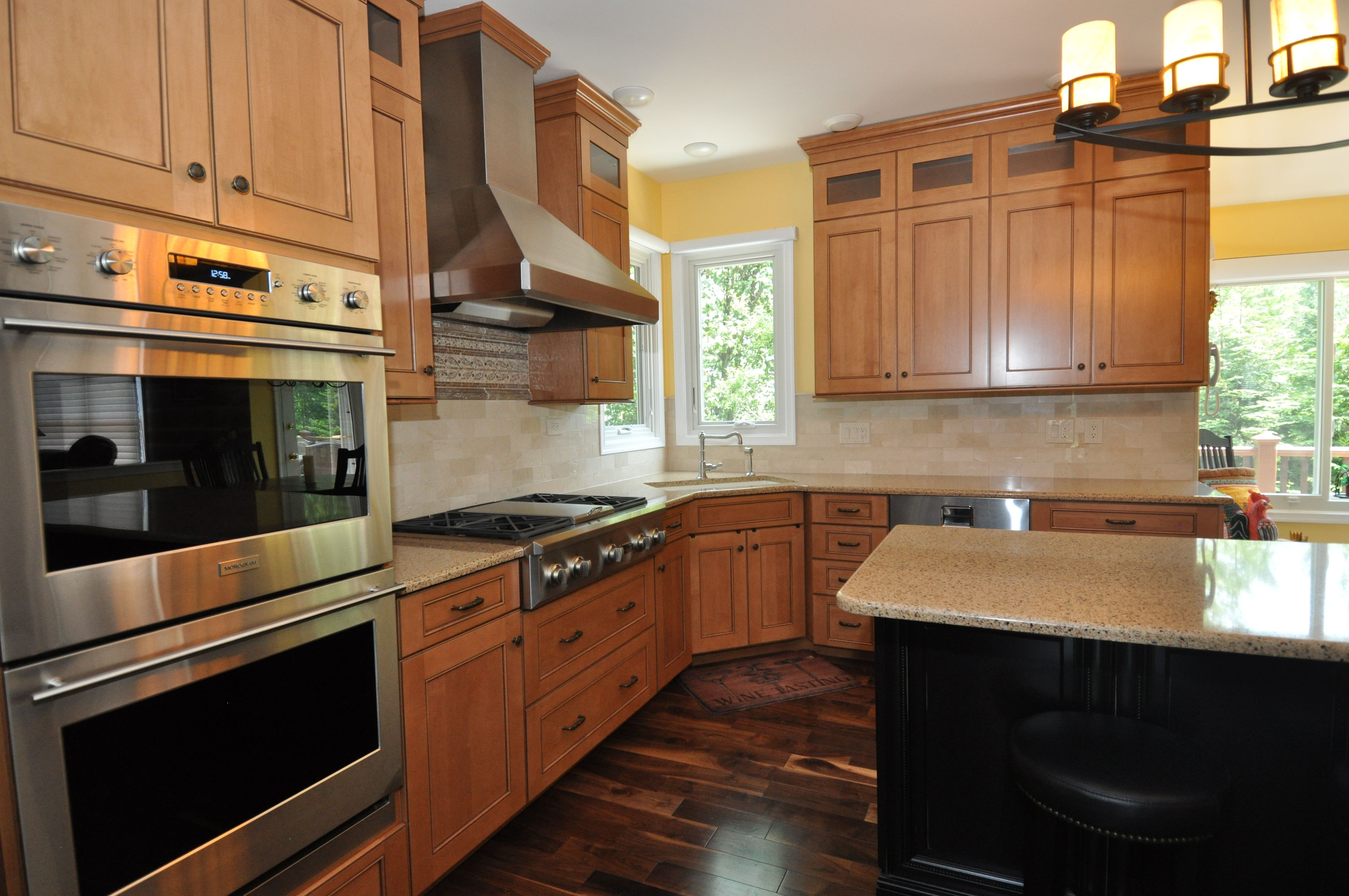 The New Cabinets Are Bridgewood Frameless Maple Cabinet In The Windom Door Kitchen Design Kitchen Remodel Design Maple Kitchen Cabinets